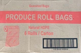 TP PRODUCE ROLL PLASTIC GUSSET BAG - 18 X 14 ( 45 X 25 X 10 ) - RBG1814 - 6 ROLLS - CTN