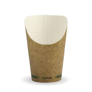 BIOPAK 12oz CHIP Cup - kraft - 50 -( BCH-12 ) - SLV