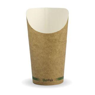 BIOPAK 16oz CHIP Cup - kraft - 50 - ( BCH-16 ) - SLV
