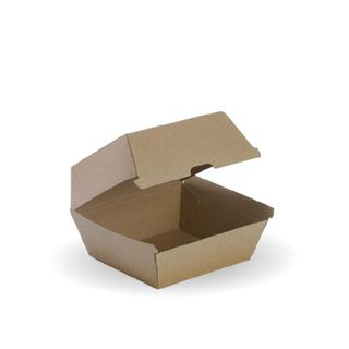 BIOPAK Burger box - 105x105x85mm - FSC Mix - kraft - 50 - ( BB-BURGER BOX ) - SLV