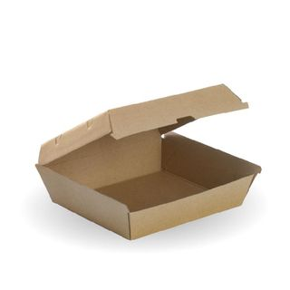 BIOPAK Dinner box - 178x160x80mm - FSC Mix - 50 - ( BB-DINNER BOX ) - SLV
