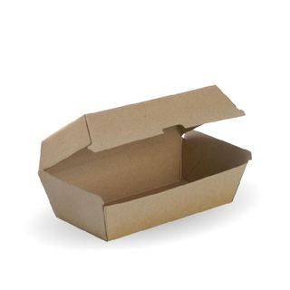 BIOPAK Regular Snack box - 175x90x84mm - FSC Mix - 50 - ( BB-SNACK BOX RE ) - SLV