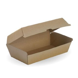 BIOPAK Large Snack box - 204x109x84mm - FSC Mix - 50 - ( BB-SNACK BOX LA ) - SLV
