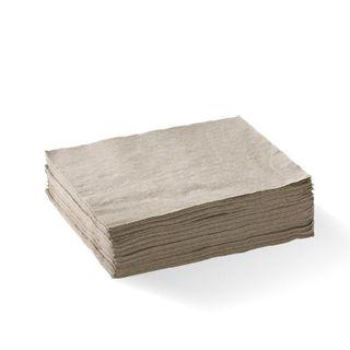 BIOPAK 1 Ply 1/4 fold lunch napkin - FSC pulp - natural - 500 - ( L-LN1/4-1PN ) - SLV