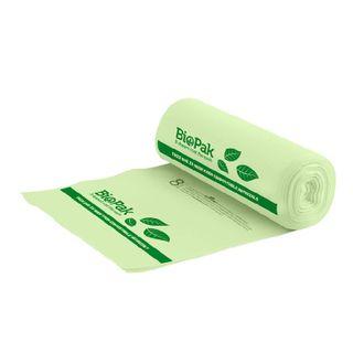 BIOPAK 8L Bin Liner - 355x220 - 0.018mm - 40x25 - green - 25 - SLV ( PSB-C-0002 )