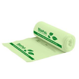 BIOPAK 80L Bin Liner - 1050x820mm - 0.023mm - 12x20 - green - 20 - SLV ( PSB-C-0015 )