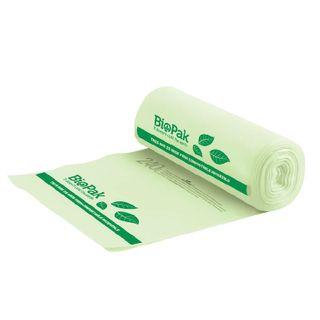 BIOPAK 240L Bin Liner - 1390x1130mm - 0.023mm - 12x12 - green - 12 - SLV ( PSB-C-0004 )