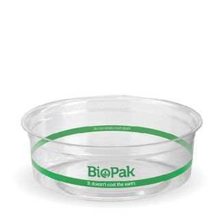 BIOPAK 240ml COLD Bowl - 121mm - clear - 500 - CTN ( P-240 )