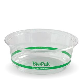 BIOPAK 600ml COLD Bowl - 143mm - clear - 600 - CTN ( P-600W )