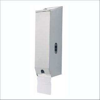 3 ROLL STAINLESS STEEL TOILET ROLL DISPENSER (A-833) - EACH