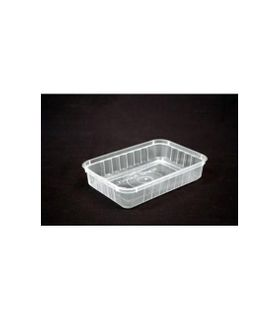 "GENFAC - SV 500 "" RIBBED ""  RECTANGULAR CONTAINER - 50 - SLV"