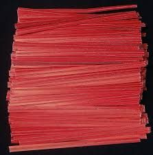 "3"" ( 75MM ) PAPER TWIST TIES - RED - PKT - 1000 TIES"
