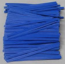 "3"" ( 75MM ) PAPER TWIST TIES - BLUE - PKT - 1000 TIES"