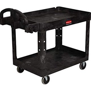 RUBBERMAID HEAVY DUTY UTILITY CART WITH LIPPED SHELVES - 452088-BLA - EACH