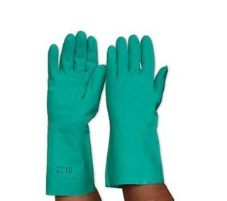 PRO-VAL NITE GREEN NITRILE GLOVES 46'S - SIZE 9 - LARGE -PAIR
