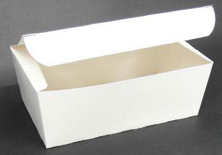 CAPRI LARGE SNACK BOX PLAIN WHITE (200 X 120 X 70)   - 250