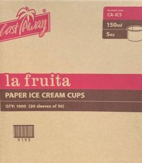 LA FRUITA PAPER ICE CREAM / GELATO CUP- 150ML / 5OZ - 1000-CTN