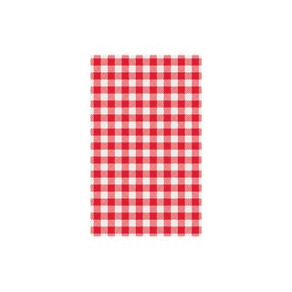 TRENTON GINGHAM RED G/PROOF PAPER - 74204 -190 X 310MM (1/4 CUT ) - 2000 -CTN
