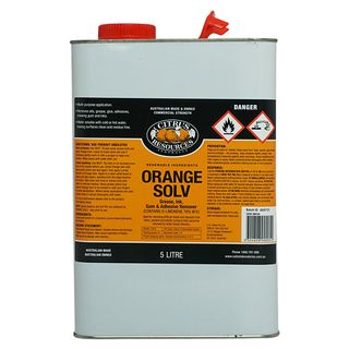 "Citrus Resources "" ORANGE SOLV "" Water Soluble Solvent Cleaner - 5L"