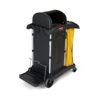 RUBBERMAID HIGH SECURITY JANITORS CLEANING CART - BLACK - 9T75 - EACH