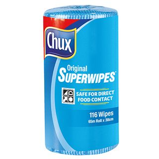 CHUX ORIGINAL SUPERWIPES BLUE 65M X 30CM ROLL ( 9361B ) - 4 ROLLS - CTN