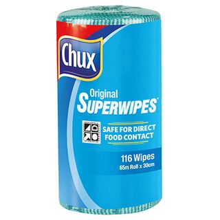 CHUX ORIGINAL SUPERWIPES GREEN 65M X 30CM ROLL ( 9361G ) - 4 ROLLS - CTN