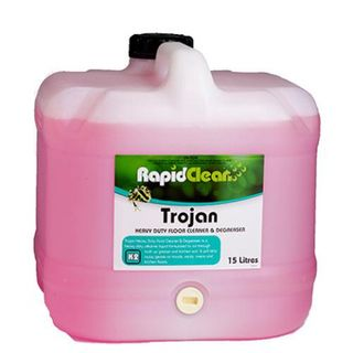 "Rapid Clean "" TROJAN "" Heavy Duty Floor Cleaner & Degreaser - 15L"