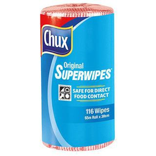 CHUX ORIGINAL SUPERWIPES RED 65M X 30CM ROLL ( 9316R ) - 4 ROLLS -CTN