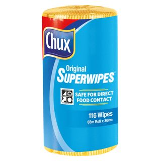 CHUX ORIGINAL SUPERWIPES YELLOW 65M X 30CM ROLL ( 9316Y ) - 4 ROLLS - CTN