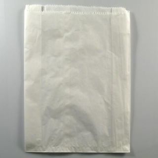 WHITE LARGE / DOUBLE BREAD BAG 370 X 240 MM - 500 - PKT