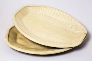 PALM LEAF PLATTER OVAL 415 x 270MM ( ECOTR340O ) - 100