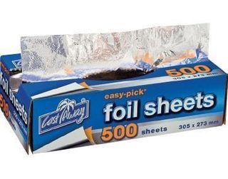 CASTAWAY EASY PICK FOIL SHEETS - LARGE - 305 X 273MM - 500 - PACK