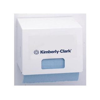 KIMBERLY-CLARK SMALL WIPER ROLL DISPENSER - WHITE METAL ( 4915 ) - EACH