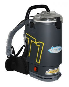CLEANSTAR GHIBLI T1V3 CHARCOAL BACK PACK VACUUM CLEANER - CLEAR LID ( T1V3-CLR ) - EACH