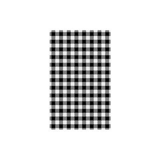 GINGHAM BLACK GREASE PROOF PAPER 1/2 CUT 400X330MM - 800 - REAM