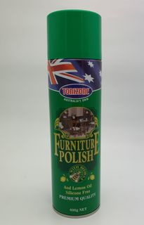 TONIZONE LEMON SCENTED FURNITURE POLISH - WITH BEES WAX - (400G CANS X 6)  - CTN