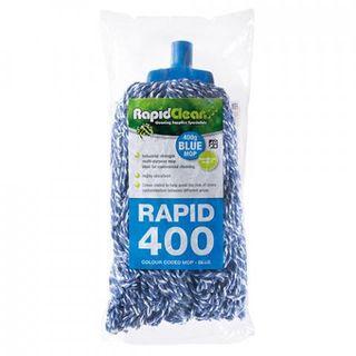RAPID CLEAN 400G MOP HEAD - BLUE -12 - CTN