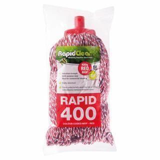 RAPID CLEAN 400G MOP HEAD - RED -12-CTN