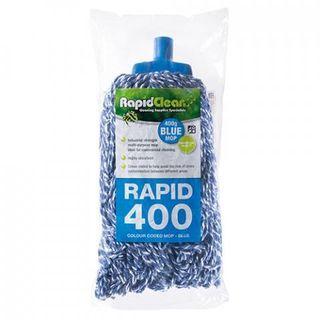 RAPID CLEAN 400G MOP HEAD - BLUE -EACH