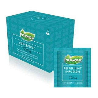 PICKWICK PEPPERMINT ENVELOPED TEA BAGS - 20 BAGS - PKT