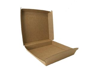 "FUTURE FRIENDLY KRAFT BOARD PIZZA BOXES - SMALL - 6"" - 163X163X45 - 25 - SLV"
