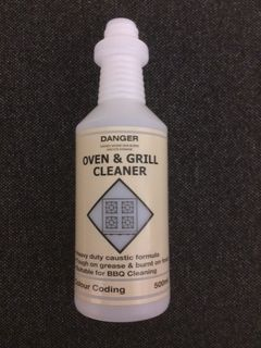 PRINTED HI - IMPACT BOTTLE - OVEN & GRILL CLEANER - 500ML CC41008