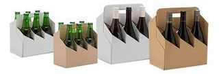 NATURAL 6 PACK BEER BOTTLE CARRY BOX - 50 - CTN