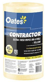OATES CONTRACTOR ROLL - YELLOW - 45MTR -4-CTN