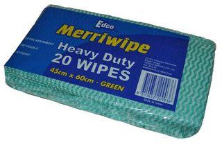 EDCO MERRIWIPE HEAVY DUTY PACKET -(19702)- GREEN - (45 X 60CM) - 200 - CTN