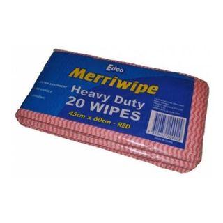 EDCO MERRIWIPE HEAVY DUTY PACKET -(19701) - RED - (45 X 60CM) - 200 - CTN