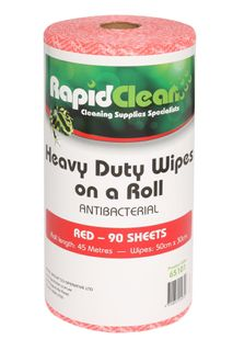 RAPID CLEAN H.D. WIPES ROLL - RED - 45MTR - 6 -CTN