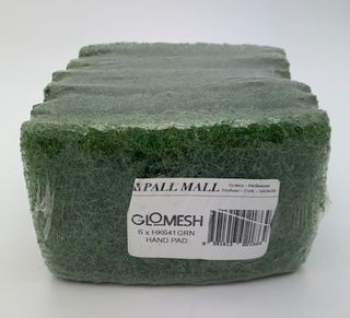 PALL MALL GLOMESH - GLIT PAD - GREEN - SMALL -PKT - 6