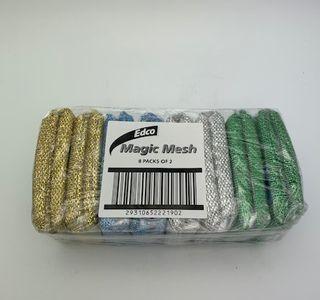 EDCO MAGIC MESH SCOURER - 4 X TWIN PACKS - 8 - PACK