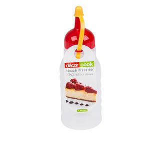 DECOR 250ML SAUCE BOTTLE (RED CAP) -6 -CTN